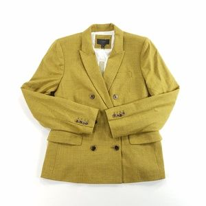 J. Crew Wool Blend Blazer Jacket Coat Moss Green
